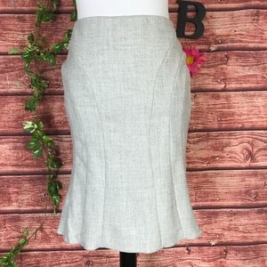 BCBG Max Azria Skirt 2 Gray Wool Fit Flare Knee